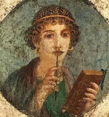 La poetisa de Pompeya, probable retrato de Safo de Mitilene. Pompeya  siglo VI a.C.