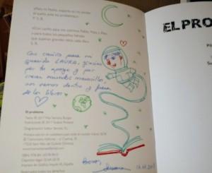 ¡Las dedicatorias de Susana son dibujos originales!