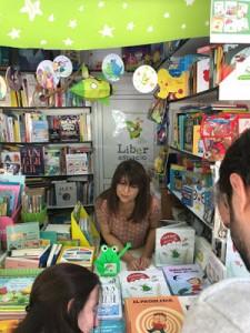 Susana Rosique en la caseta  de Liberespacio, FLM 018