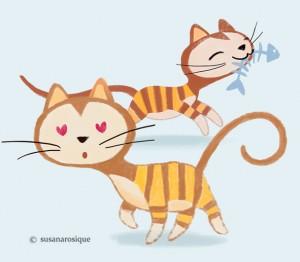 Bombón es una gata enamorada.